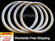 "ATLAS Front 16"" Back 15"" Motorcycle WhiteWall Portawall Tire insert Trim Set."