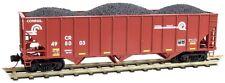 Micro-Trains N Scale 108 00 321 & 322 Conrail 100 Ton 3 Bay Hoppers W/ Coal 2Pk