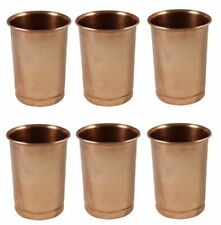 Pure Copper Water Drinking Glasses Set of 6 Ayurvedic Products 350Ml Free Ship
