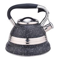 Stainless Steel 3.4QT Teakettle Stovetop Whistling Tea Kettle Teapot Water Pot