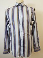 Men's Blue & Brown Striped Long Sleeve Shirt by Ted Baker Size Medium. Ted 3