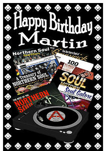 Northern Soul (Registrazione Cover) - Happy Birthday Personalizzato Scheda ( Any