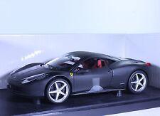 TC09 NEW Ferrari 458 Italia Coupe 1:18 1/18 Black Diecast Car Model Hot Wheels