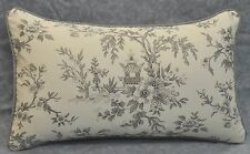 Pillow made w Ralph Lauren Saint Honore Gray Floral Fabric 20x12 NEW trim cord