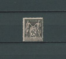 SAGE - 1886 YT 97 - TIMBRE NEUF* TYPE II 25 c. noir s. rose - trace de charnière