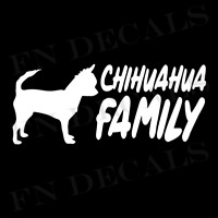 Chihuahua Family 2 Custom Car Window Vinyl Decal Sticker