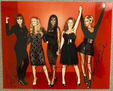 Spice Girls Melanie C, Emma Bunton, Victoria Beckham Signed Ip 8x10 Color Photo