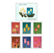 AFG9704 Tulips block and 6 stamps