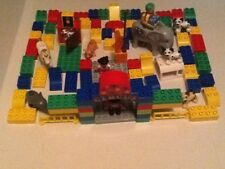 USED LEGO DUPLO BLOCKS LOT OF 90+PIECES CIRCUS WITH ANIMALS,FIGURES (SHELF 27)