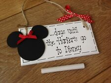 Personalised Countdown To Weeks Days Until Disney Holiday Minnie Mouse Plaque