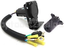 4 Flat to 7-Way RV Trailer Light Plug Wire Harness & 7-Way Trailer Plug to 4 Pin