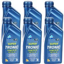 6x 1L ARAL SUPER TRONIC 5W-30 LONGLIFE III VW 50400 50700 BMW LL-04 MB 229.51
