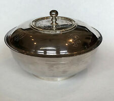 New listing Elegant stainless steel Korean rice bowl in box with decorated inscribed lid
