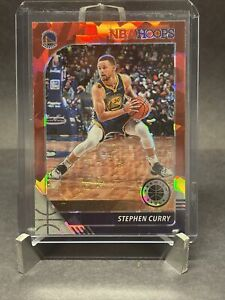 2019-20 HOOPS PREMIUM STOCK STEPHEN CURRY RED CRACKED ICE PRIZM #59 WARRIOR A003