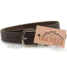 """New Quality MENS Brown REAL LEATHER BELT 1"""" Wide by Oakridge Sizes up to 49"""""""