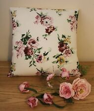 IKEA EMMIE ROS VINTAGE FLORAL FABRIC CUSHION COVER 100% COTTON 16 x 16""