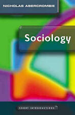 Very Good, Sociology: A Short Introduction (Polity Short Introductions), Abercro
