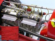 SMC Cloth Plug Wire Pocher Rolls Royce Alfa Bugatti Fiat Mercedes Red & Black