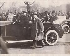 3/7/1925 President CALVIN COOLIDGE in Limousine on Inauguration Day - News Photo