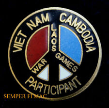VIETNAM LAOS CAMBODIA WAR GAMES PARTICIPANT PIN US ARMY NAVY AIR FORCE MARINES