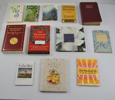 Lot 12 Books Christian Doctrine Woodworking Bible Buddha Poems Daily Word BB4G2