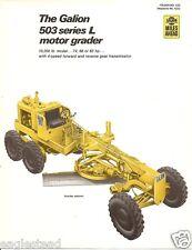 Equipment Brochure - Galion - 503 Series L - Motor Grader - 1972 (Eb918)