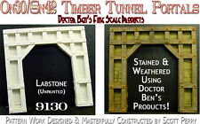 Wooden Timber Tunnel Portal-Rustic Scale Model Masterpieces fine Craftsman On30