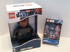 Lego #9001932 Star Wars Darth Maul Watch & Alarm Clock Bundle1 NIB 2011-2012!