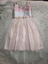 Girls Size Med Cat & Jack Pink Glitter High Low Dress *Holiday & Picture Dress
