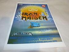 IRON MAIDEN - TRUST - ANTHRAX - Publicité de magazine / Advert MONSTERS OF ROCK