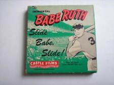 8mm or 16mm film Babe Ruth. Slide Babe, slide! castle films Honkbal Baseball
