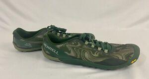 MERRELL Vapor Glove 4 J066289 Green/Gray Barefoot Trail Running Shoes Mens Sz 10