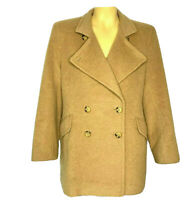Larry Levine Design Women's Pure Camel Hair Double Breasted Coat Size 8 Blazer