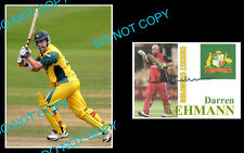 DARREN LEHMANN AUST CRICKET GREAT SIGNED COVER +1 PHOTO