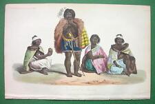 SOUTH AMERICA Natives Charruas Extinct Race - H/C Color Print