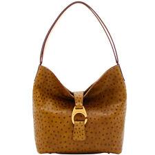 Dooney & Bourke Derby Ostrich Leather Hobo Shoulder Bag (Moss Green)