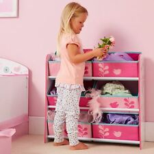 FLOWERS AND BIRDS 6 BIN STORAGE UNIT BY WORLDS APART KIDS BEDROOM STORAGE NEW