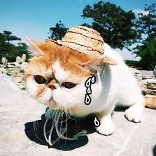 Haustier Katze Hunde Hawaii Strohhut Mütze Hundehut Sommerhut Sonnenhut Hüte w/