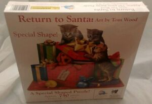 Christmas Return to Santa 750 Piece Jigsaw Puzzle by Tom Wood Sealed Dogs Cats