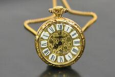 EMES alte Anhängeruhr Kettenuhr Uhrenkette Uhr 18.6101 gold NEU NOS; K71 45