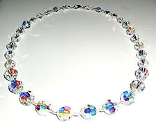 Gorgeous Necklace Made with Round Clear AB Crystals