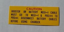 Mopar Battery Warning decal 62-68 A B C D Body NEW DD0350