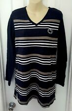 PENN STATE NITTANY LIONS Women Tunic Size Medium Top Relaxed Fit Fleece Pockets