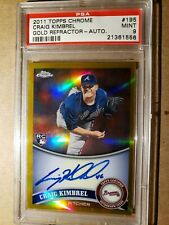 2011 Topps Chrome Craig Kimbrel SP Gold Refractor Rookie #36/50 PSA 9 RC
