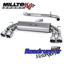 "Milltek Golf R MK7.5 Exhaust Cat Back 3"" NON VALVE Non Res Polished GT100 2017on"