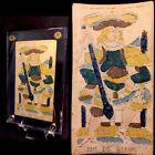 c1775 Woodblock King of Batons Tarot Playing Cards Historic Marseilles Single