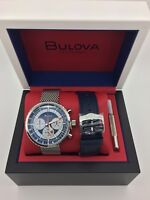 NEW! Bulova 96K101 Watch Stars & Stripes Chrono C Archive SPECIAL EDITION USA