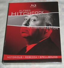 Bluray Alfred Hitchcock Classic Collection, Notorious / Rebecca / Spellbound New