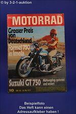 Das Motorrad 10/72 Suzuki GT 750 Maico MC 501