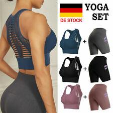 Damen Fitness Unterwäsche Set Running BHs Bra Yoga Shorts Set Gym Sport Bustier
